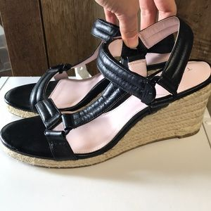 TARYN by Taryn Rose Black Wedge Sandals Size 8